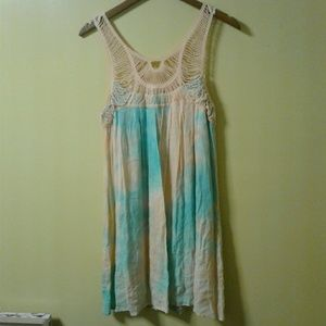 Entro boutique crochet tie dye dress